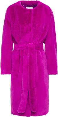 Adina Stand Studio Belted Faux Fur Coat