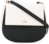 Kate Spade logo plaque shoulder bag - women - Leather/Polyester/Polyurethane - One Size