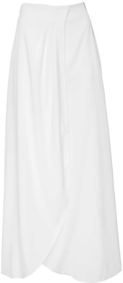 Dressarte Paris Long Wrap White Skirt
