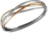 Effy Trio by Diamond Crossover Bangle (1 ct. t.w.) in 14k White Gold, 14k Gold and 14k Rose Gold