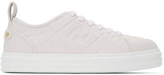 Fendi White Forever Rise Sneakers