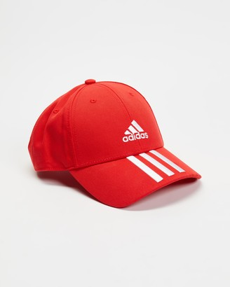 adidas Red Caps - Baseball 3-Stripes Twill Cap - Size One Size at The Iconic