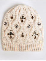 M&S Collection Jeweled Beanie Hat