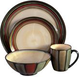Sango Flair Dinnerware Set in Black (16-Piece)