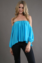 Boulee Audrey Top (Silk) in Turquoise