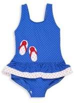 Florence Eiseman Toddler's & Little Girl's Jacquard Dot Swimsuit