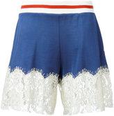 MM6 MAISON MARGIELA lace trim shorts - women - Cotton/Polyamide/Viscose - XS