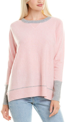 Forte Cashmere High-Low Cashmere Sweatshirt