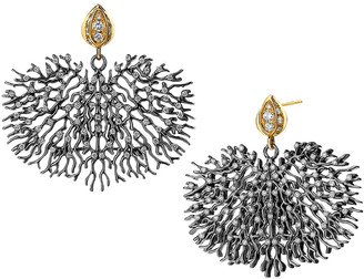 Syna Two-Tone Coral Reef Earrings with Diamonds