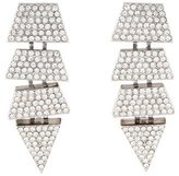 Eddie Borgo Crystal Geometric Drop Earrings