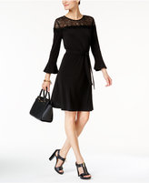 MICHAEL Michael Kors Lace-Trim Bell-Sleeve Dress