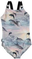 Molo Nakia Dolphins Sunset One-Piece Swimsuit, Size 12M-10