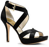 Michael Kors Evie Patent-Leather Platform Sandal