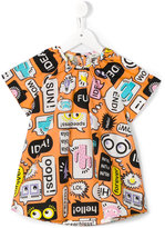 Fendi monster print blouse - kids - Cotton - 2 yrs