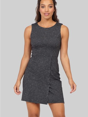 M&Co Izabel checked wrap front shift dress