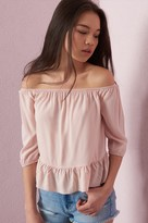 Garage Off-Shoulder Ruffle Top