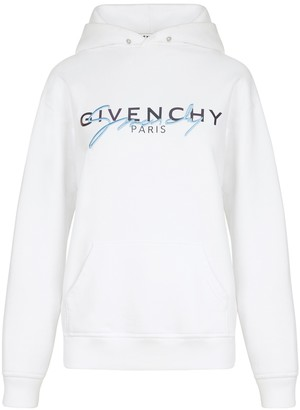 Givenchy White Logo Hoodie
