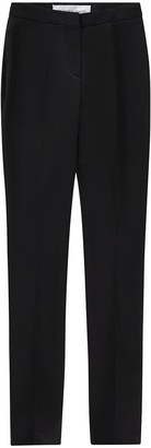 Monique Singh Iconic Black Gabardine Fitted Pants