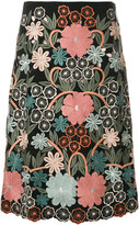 RED Valentino embroidered floral skirt