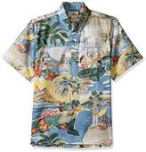 Reyn Spooner Men's Spooner Kloth Pullover Classic Fit Button Front Hawaiian Shirt Transpac