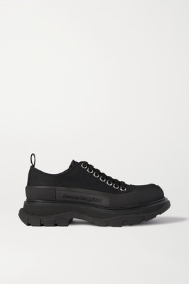 Alexander McQueen Canvas Exaggerated-sole Sneakers - Black