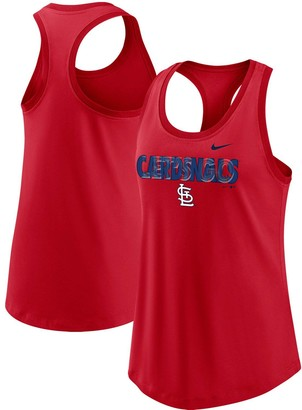 Nike Women's Red St. Louis Cardinals Let's Go Racerback Performance Tank Top