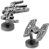 Star Wars Antiqued X-Wing and TIE Fighter Battle Ships Cufflinks