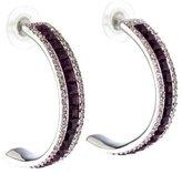 Judith Leiber Crystal Hoop Earrings