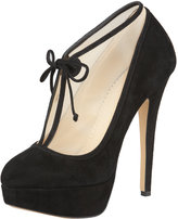 Charlotte Olympia Natalia Lace-Up Ankle Bootie