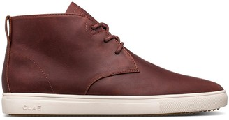 Clae CHESTNUT BROWN STRAYHORN OILED LEATHER BOOTS - 46