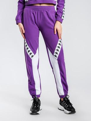 Kappa 222 Banda Bawon Trackpants in Purple White
