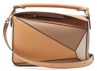 Loewe Puzzle Small Leather Cross-body Bag - Beige Multi