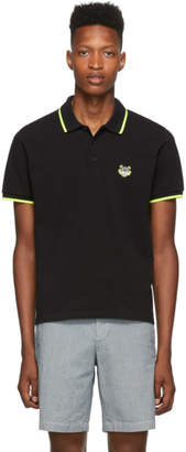Kenzo Black Limited Edition High Summer Tiger Fitted Polo