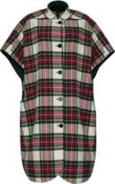 Burberry Reversible tartan oversized poncho