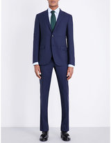 Corneliani Micro-square Patterned Slim-fit Wool Suit
