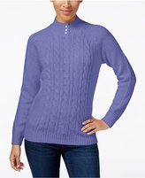 purple cable knit sweater - ShopStyle