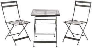 UMA Black Bistro Chair & Table 3-Piece Set