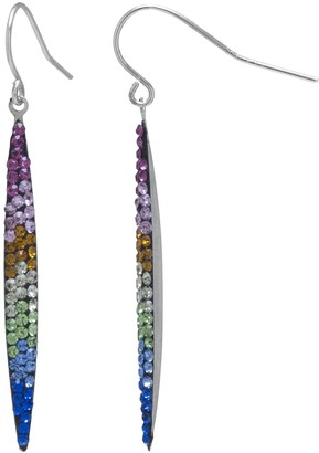 Marquis Main and Sterling Sterling Silver Thin Rainbow Drop Earrings
