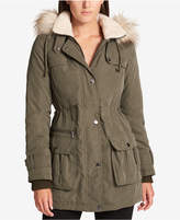 DKNY Faux-Fur-Trim Hooded Parka