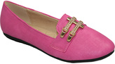 Fuchsia Gold Buckle Loafer