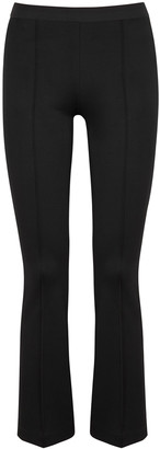 Helmut Lang Black Flared-leg Jersey Trousers