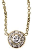 Roberto Coin 18k Yellow Gold Pave Diamond Pendant Necklace