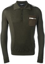 DSQUARED2 long sleeved polo shirt - men - Wool - L