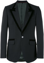 Gucci Heritage peacock blazer - men - Mohair/Viscose/Silk/Wool - 50