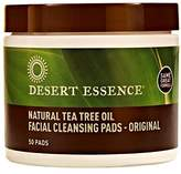 Desert Essence Natural Tea Tree Oil Facial Cleansing Pads Original, 50 Count