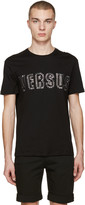 Versus Black Logo Staple T-shirt