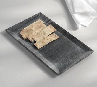 Pottery Barn Black Marble Rectangular Platter