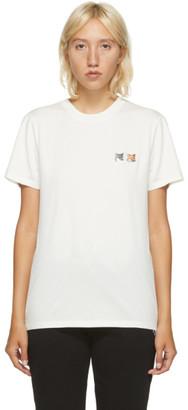 MAISON KITSUNÉ Off-White Double Fox Head T-Shirt