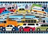 Melissa & Doug ; Traffic Jam Jumbo Jigsaw Floor Puzzle (24 pcs, 2 x 3 feet long)