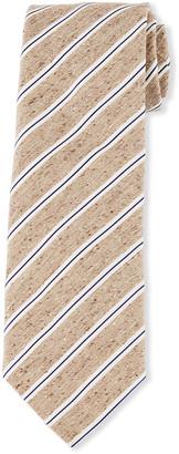 Brioni Heathered Thin Stripe Tie
